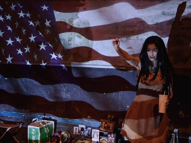 Pocahontas o la verdadera historia de una traviesa Caption: Pocahontas o la verdadera historia de una traviesa