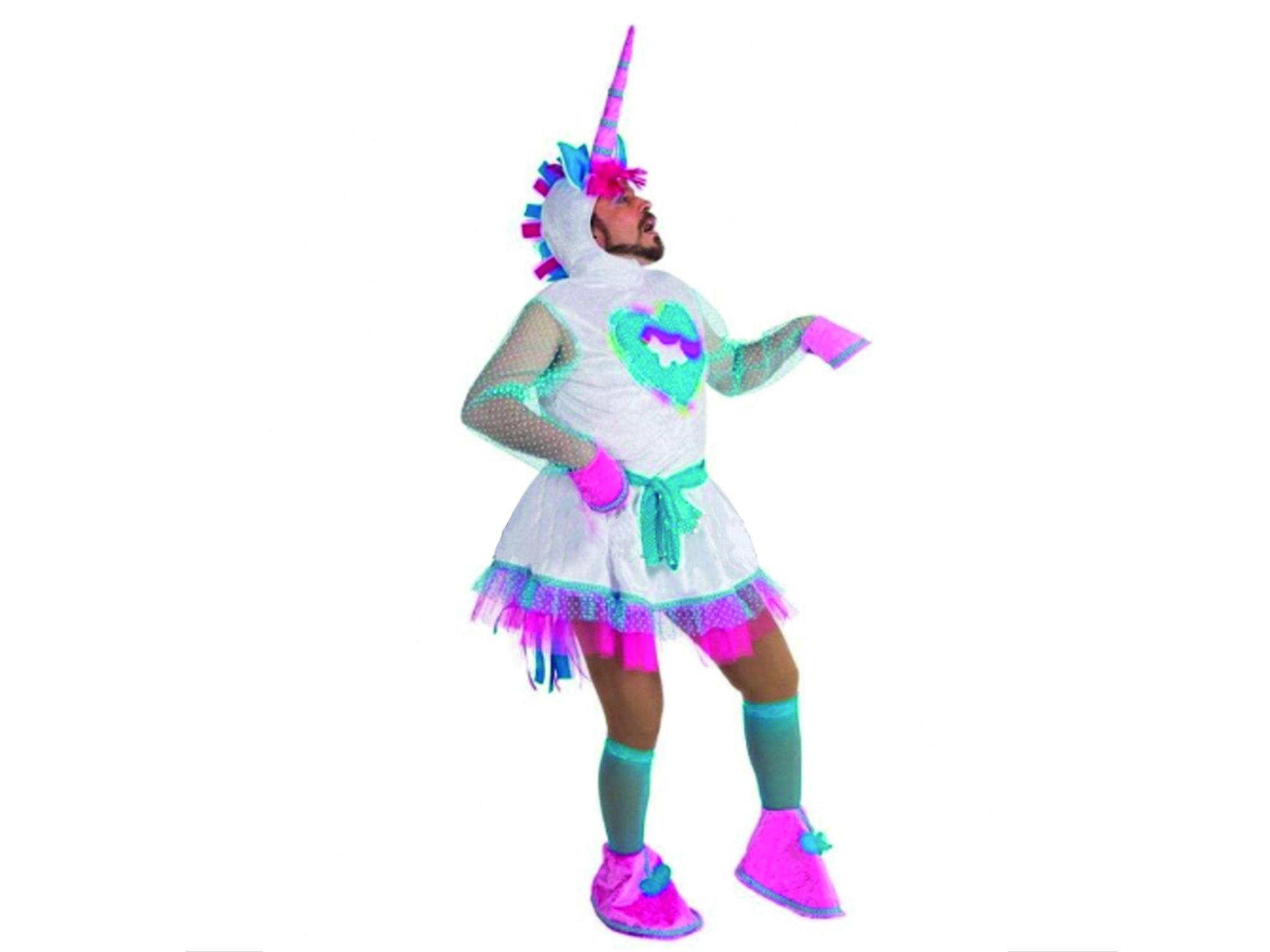 fato de unicórnio para o Carnaval
