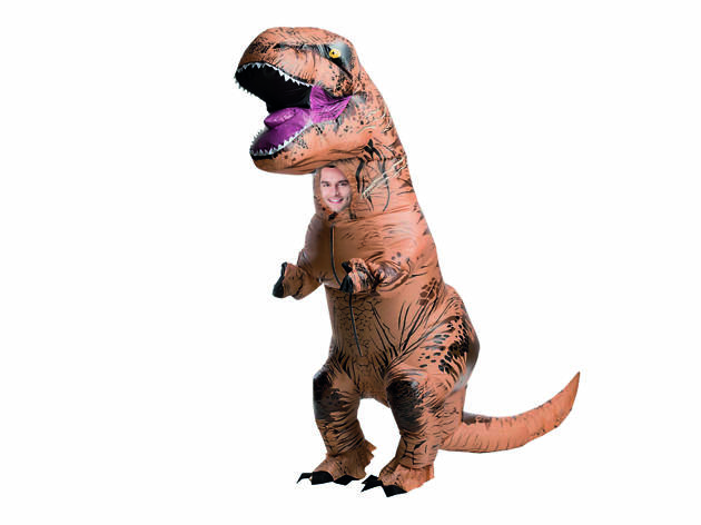 fato de t-rex insuflável