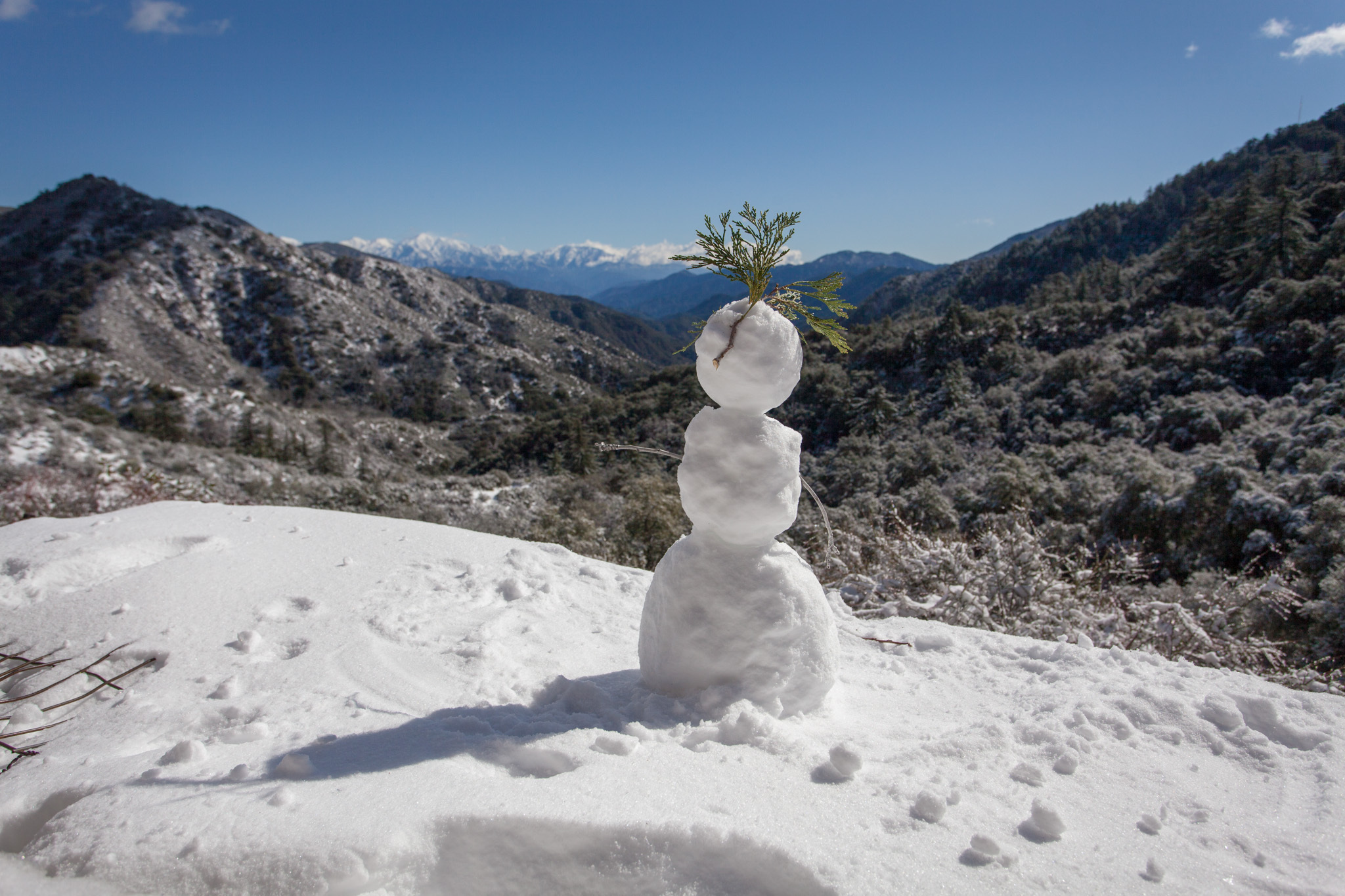 Angeles National Forest snow