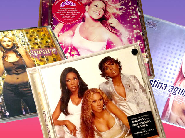 Images of CDs from the 2000s.