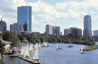Charles River sailboats, Back Bay