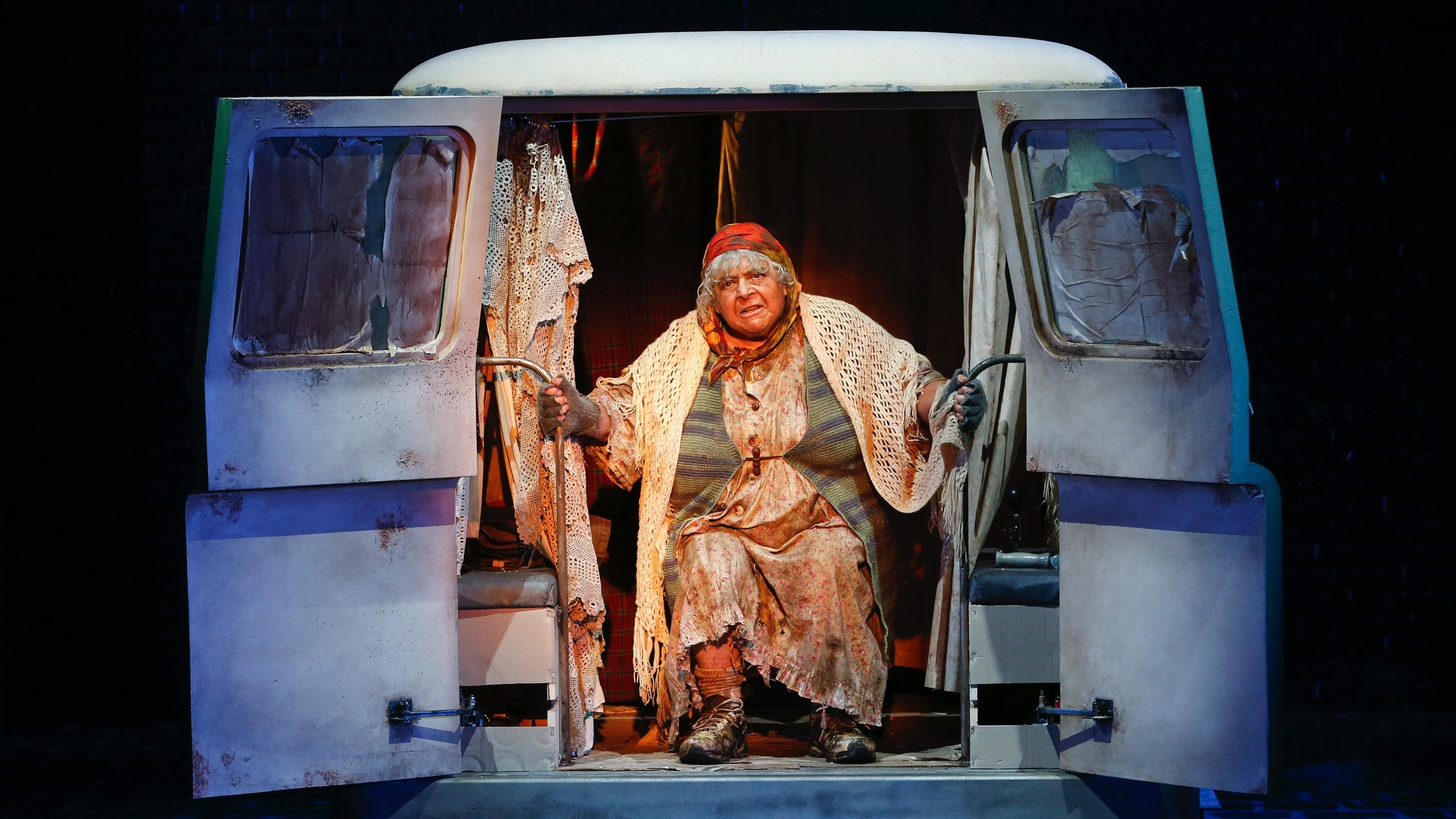 Production shot at The Lady in the Van