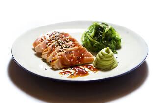 Tataki de salmão da Casa Vasco