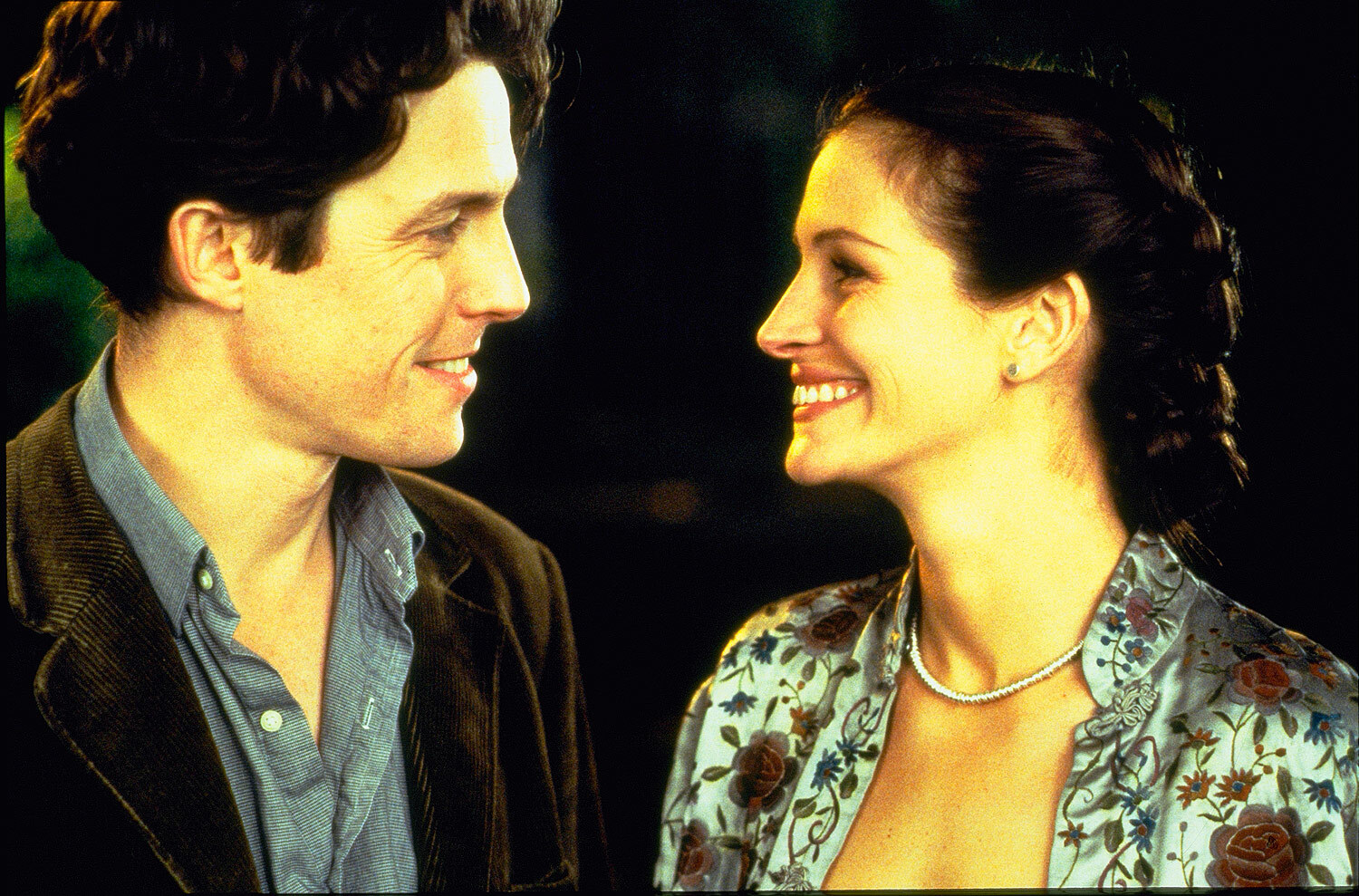 Julia Roberts and Huge Grant in the film 'Notting Hill'