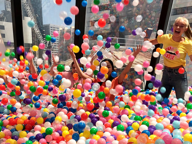 People in ball pit at Sugar Republic
