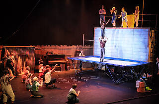 Image for circus performance with acrobatics.