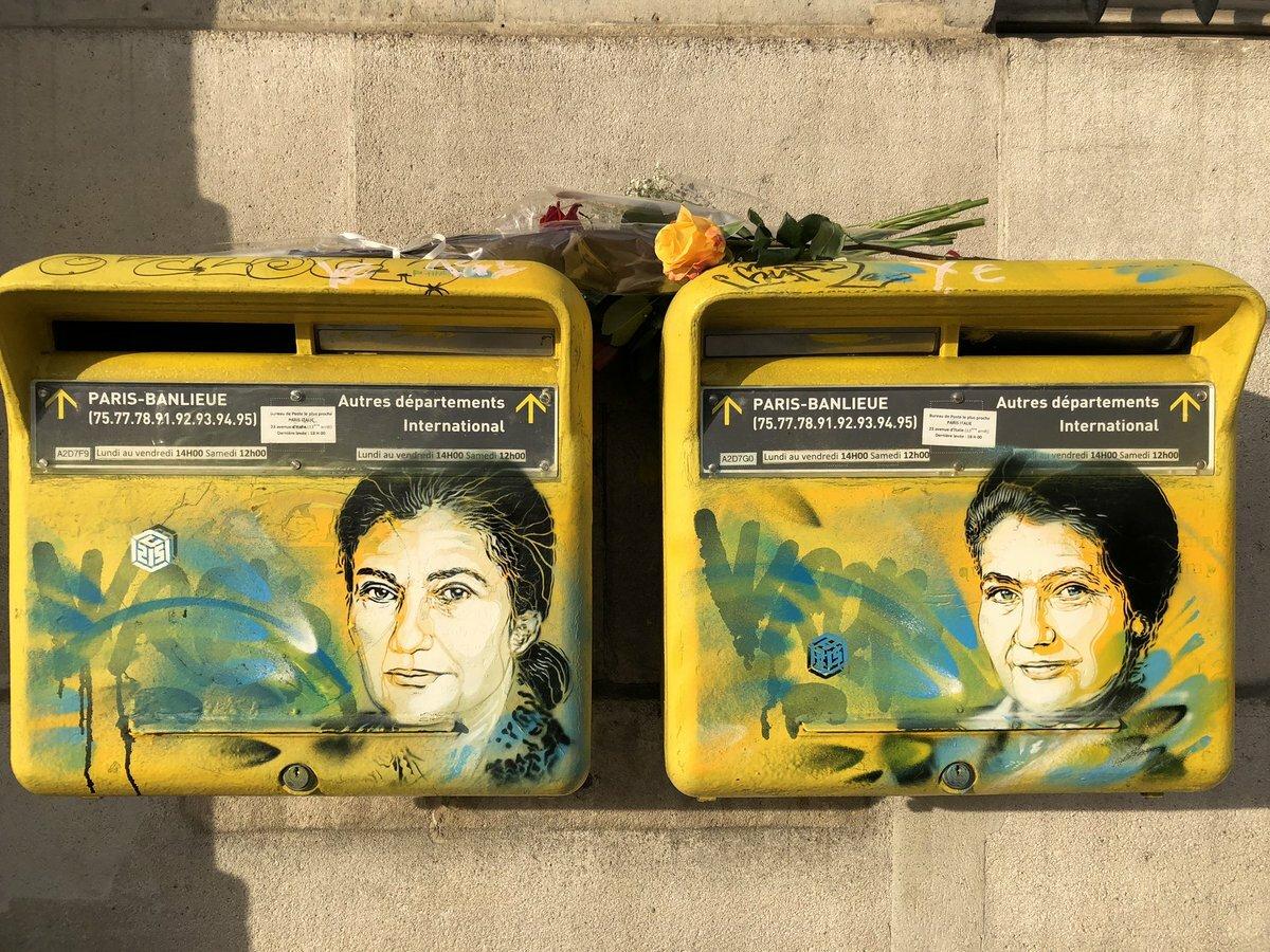 Le street artiste C215 a repeint les portraits tagués de Simone Veil