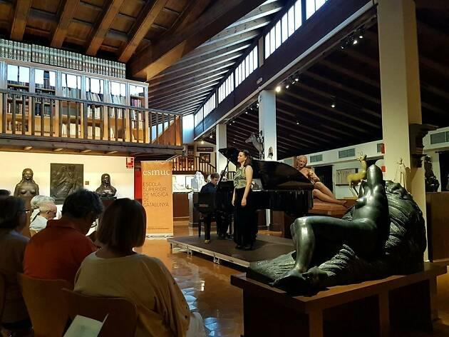 Musicant al Museu Marés