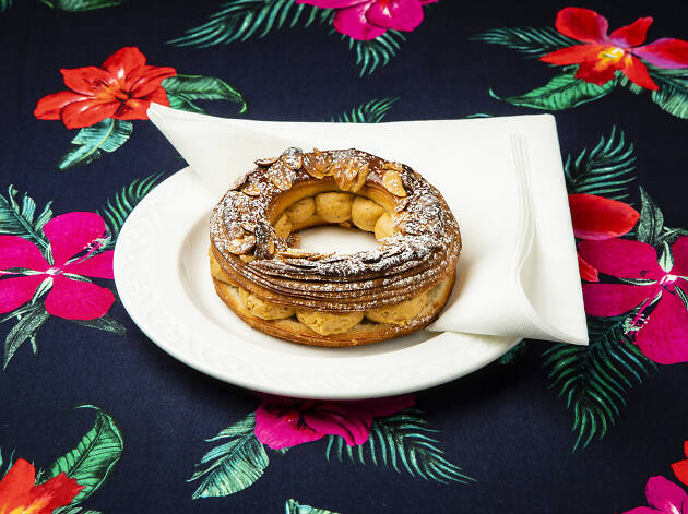 Hazelnut praline Paris-Brest at Pophams Bakery