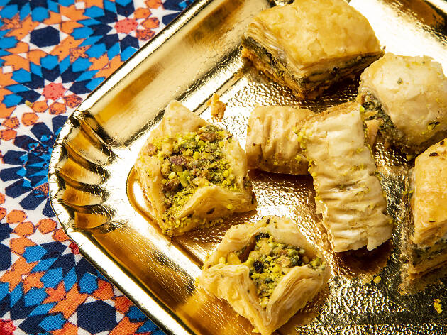 Pistachio baklava at Green Valley bakery