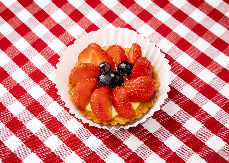 Tarte aux fraises at Aux Pains de Papy