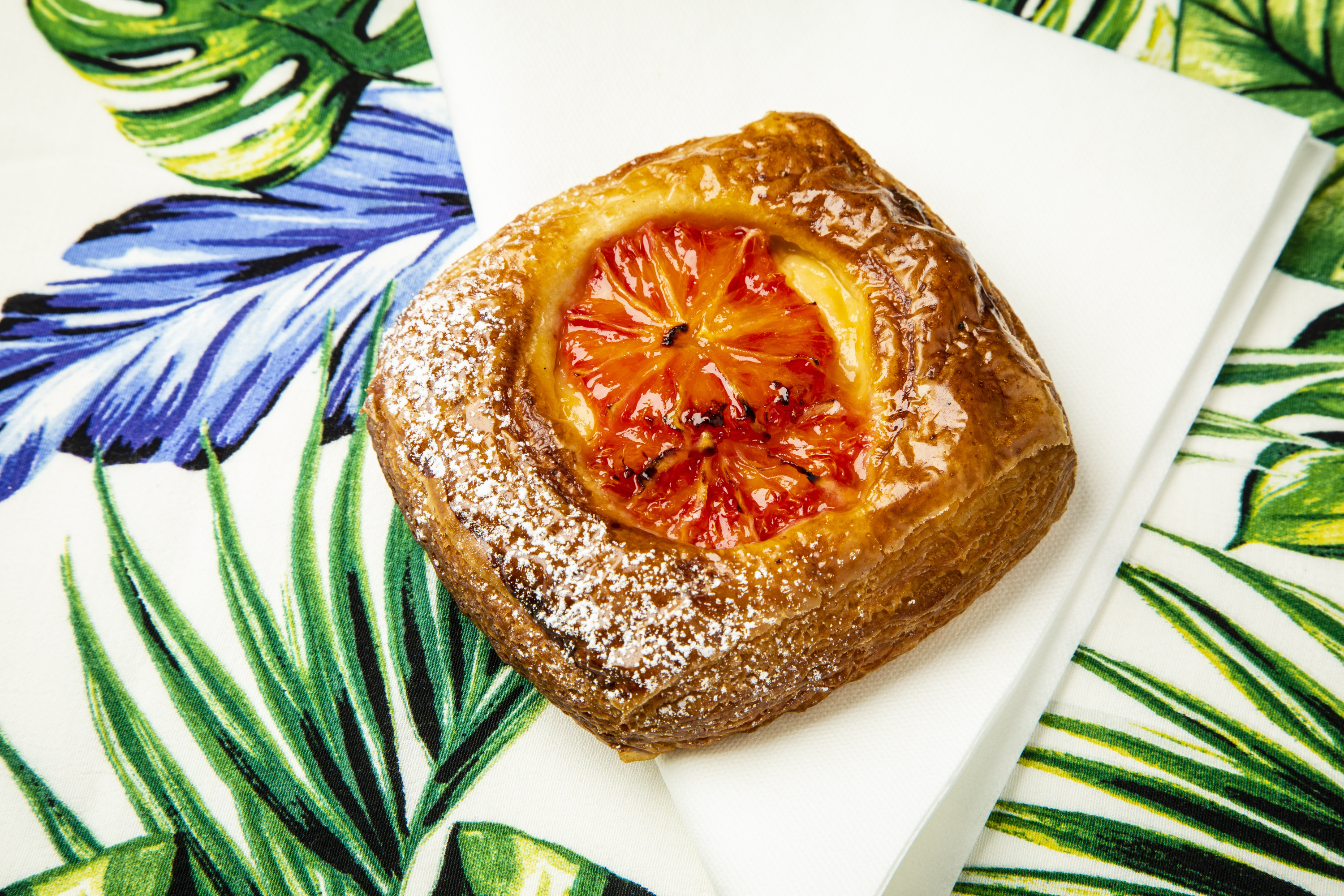 Blood-orange Danish at Jolene bakery in London