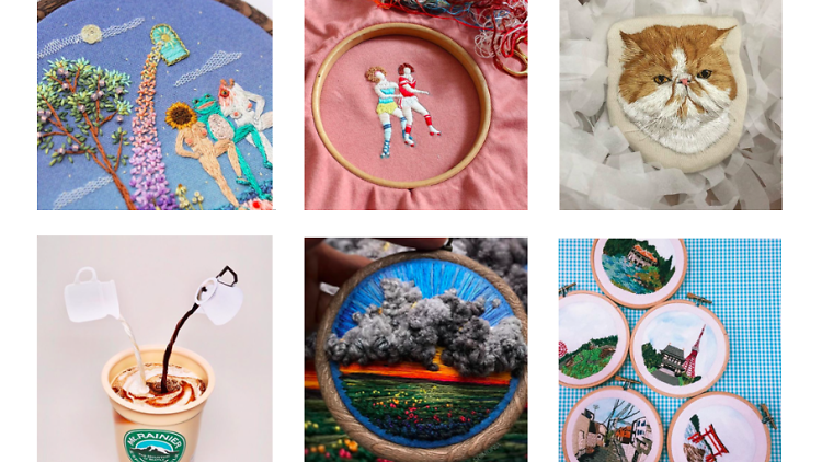 embroidery artists on ig