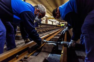 Trabalhos de manutenção no Metro