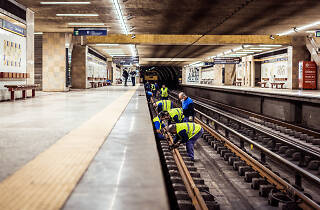 Trabalhos de manutenção do Metro