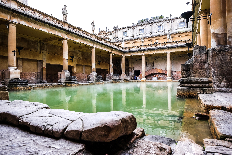 pool inside roman baths