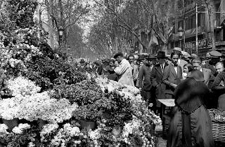 Floristes de la Rambla. 1930