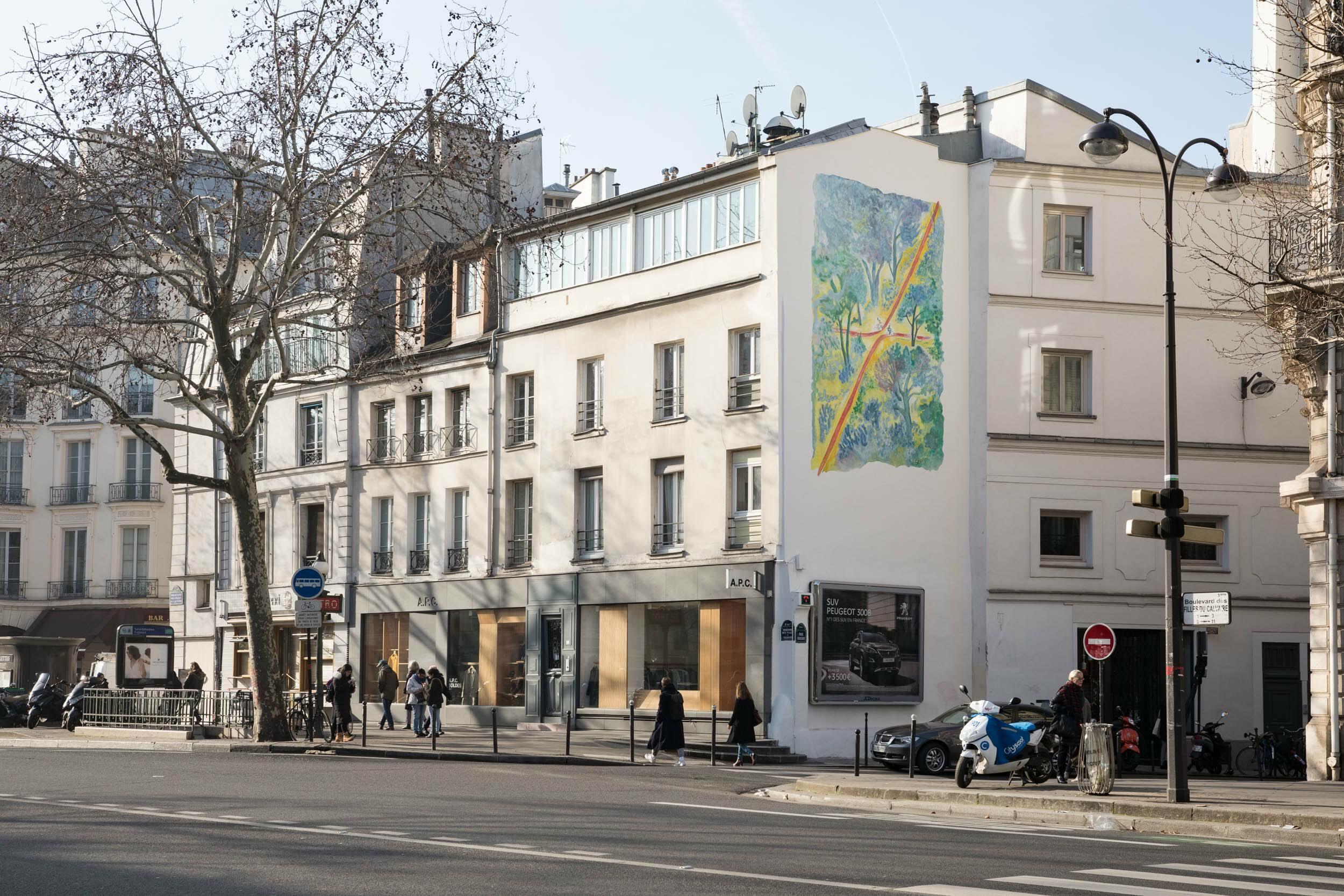 Une gigantesque fresque de Sempé inaugurée dans le 3e arrondissement