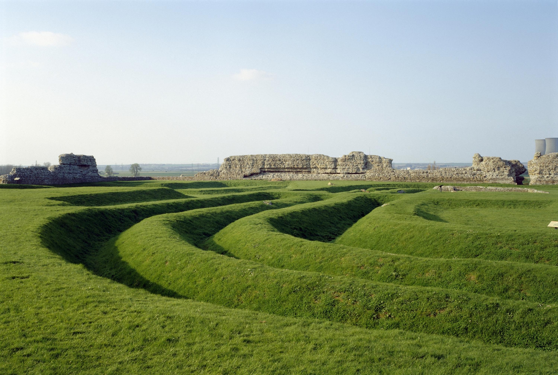 Richborough Roman Fort in Kent