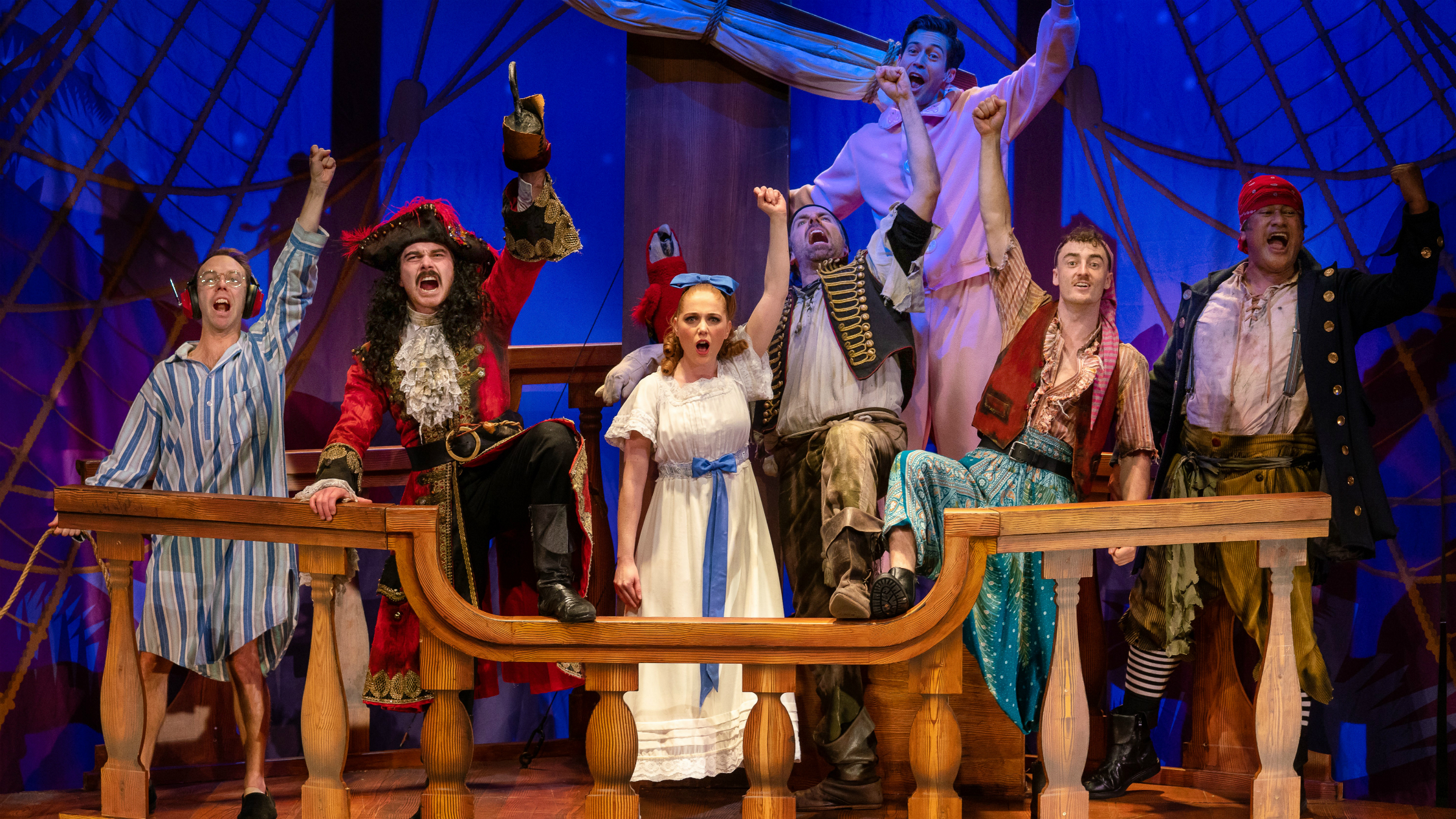 The cast of Peter Pan Goes Wrong