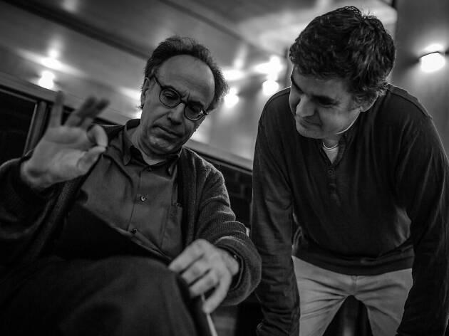 El compositor Benet Casablancas amb el pianista David Casanova