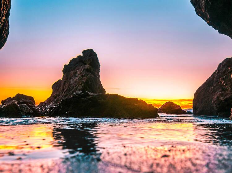 Explore the rock formations at El Matador State Beach