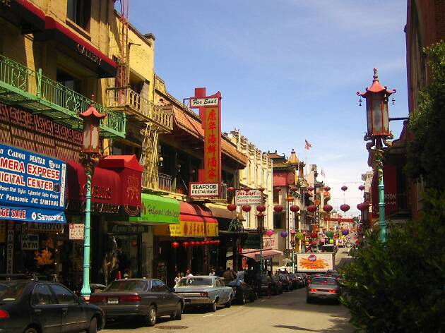 Looking down the main drag in San Francisco's Chinatown