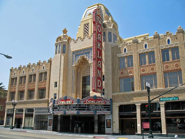 The outside of the Fox Theater, Downtown Oakland