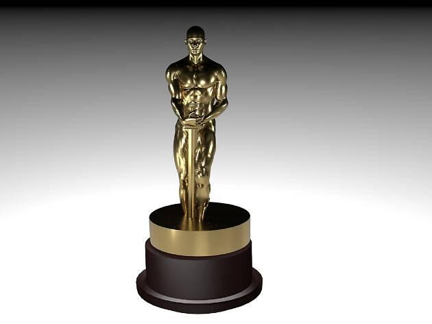 The golden Oscar award statuette
