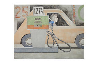 David Byrd, Woman in Car, Filling Station, n.d.