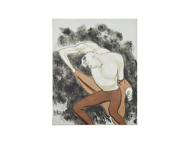 David Byrd, Man Unbuttoning His Cuff, 1986