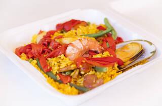 Saturday paella and Spanish food at La Espanola Meats deli in Harbor City