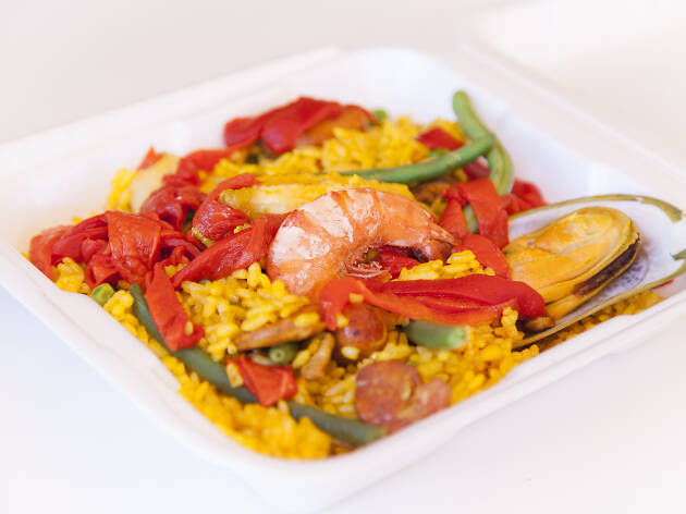 Saturday paella and Spanish food at La Espanola Meats deli in Harbor City