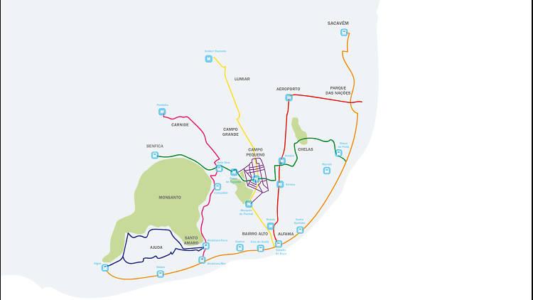 mapa de ciclovias