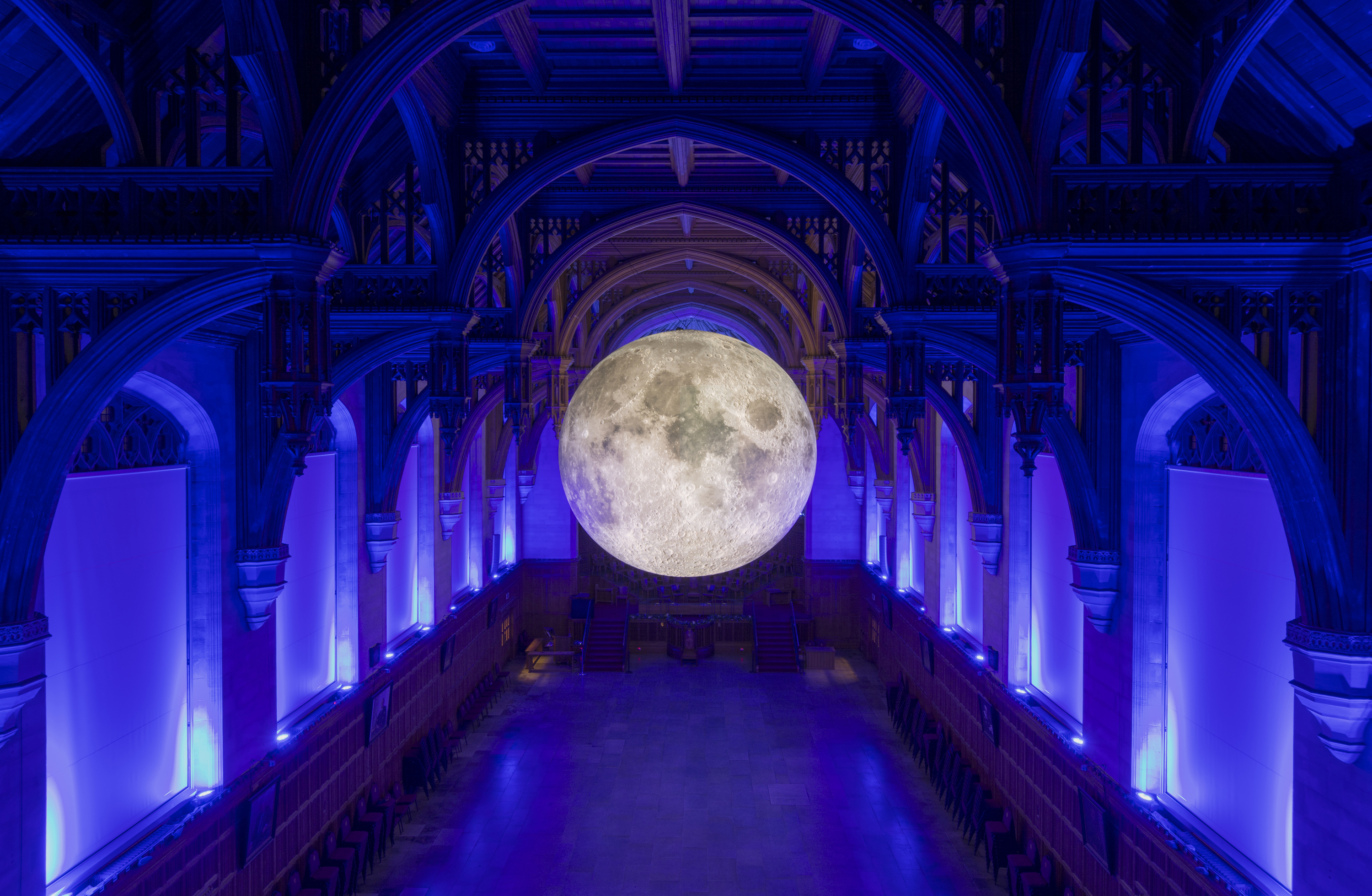 You can do yoga under a giant indoor moon at the Natural History Museum this summer