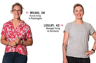 Wilko, left, and Lesley, right who we sent on a blind date