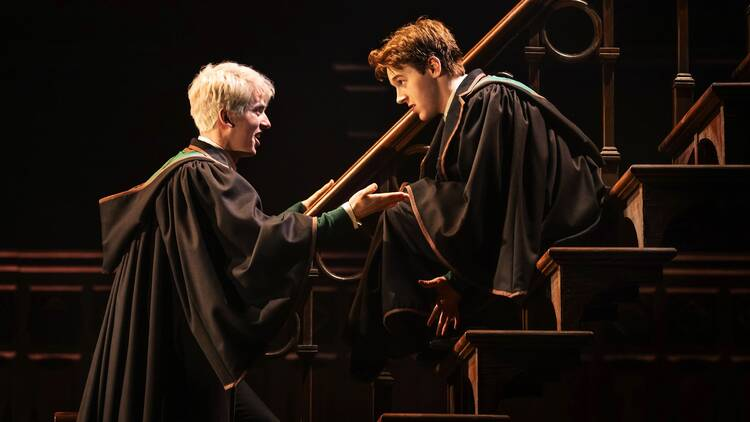 Two characters on stage in HP and the cursed child