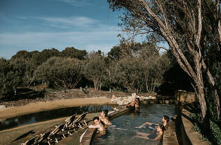 People in a pool at Peninsula Hot Springs