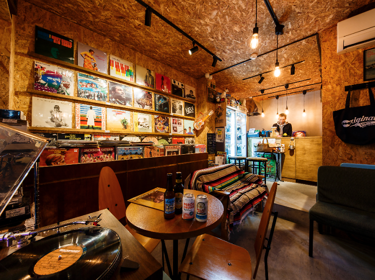Best record stores with bars in Tokyo