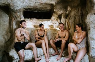Ice cave at Peninsula Hot Springs
