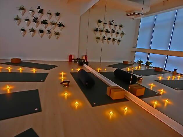 Santi Space Candlelit yoga