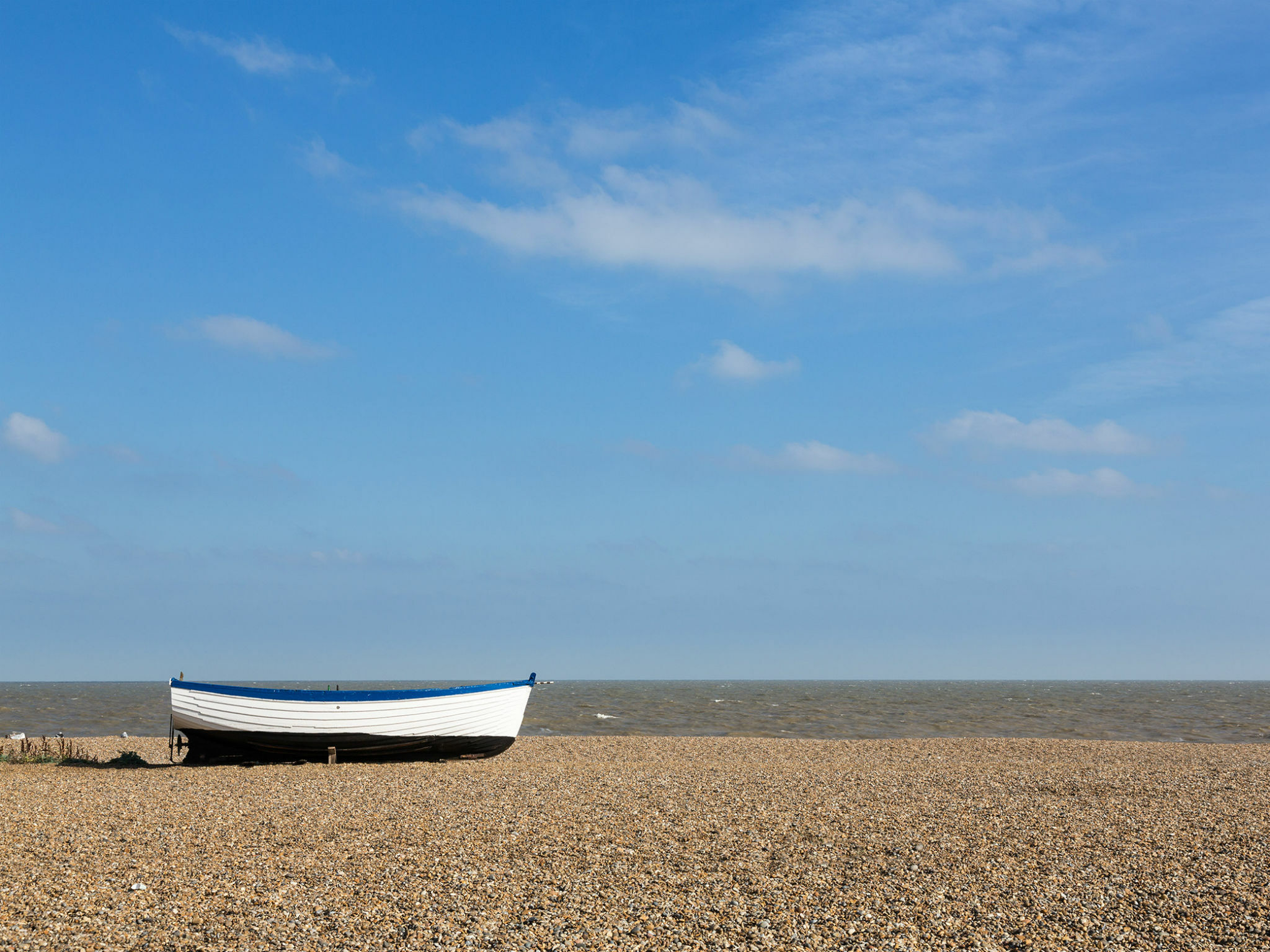 A boat at Aldeburgh seaside
