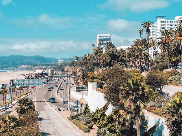 Santa Monica, Palisades Park, California Incline