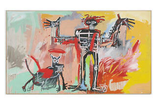 Jean-Michel Basquiat, Boy and Dog in a Johnnypump, 1982