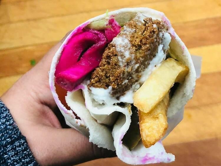 The $1.69 falafel sandwiches at Nilufar