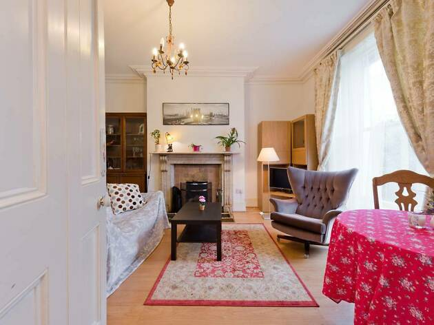 colourful georgian style bedroom