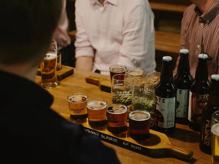 Drink like a Glaswegian at Drygate Brewery
