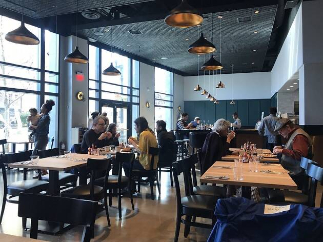 The spacious dining room of Brown Sugar Kitchen