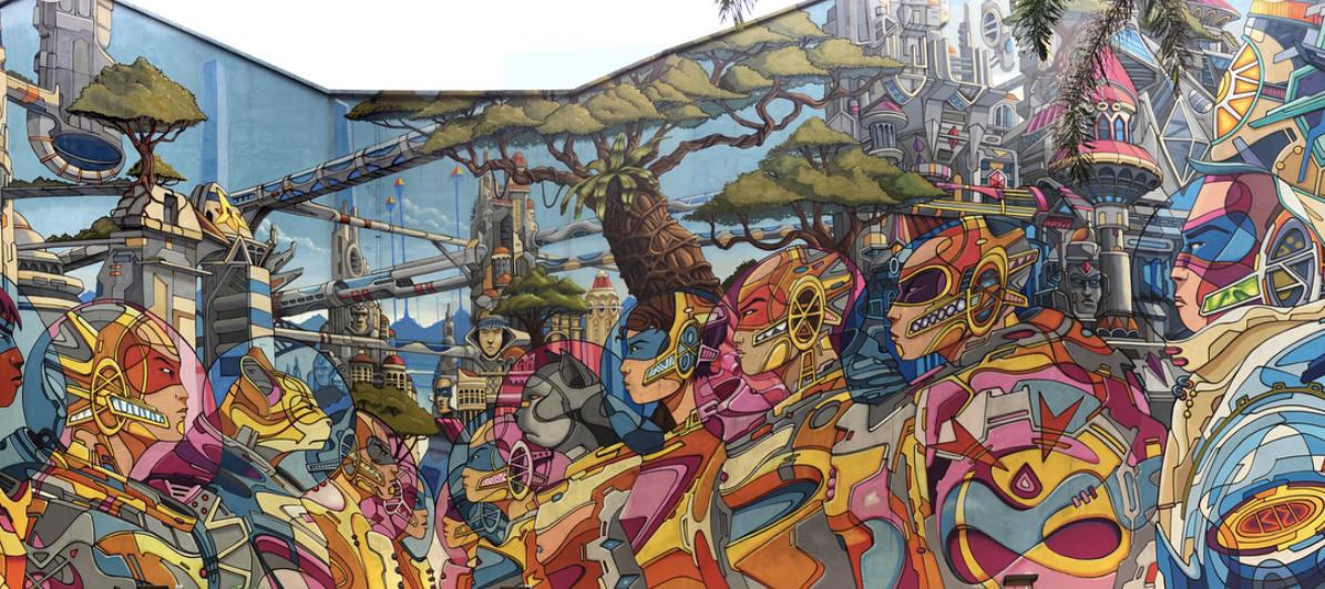 Haji Lane Street Art - Didier Jaba Mathieu